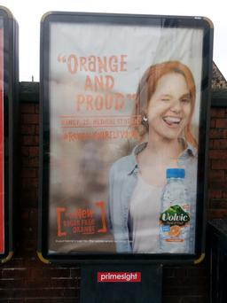 The advertising campaign for the bottled water - centred on the slogan 'Orange and Proud' - won't be launched in Northern Ireland, due to concerns that it could be interpreted as supporting the Orange Order and so alienate Catholics
