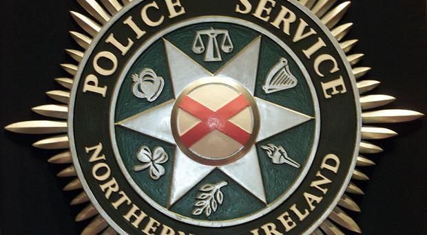 Three masked men have stolen guns and cash in a burglary in Larne.
