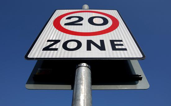 The 20mph speed limit was launched at the end of January