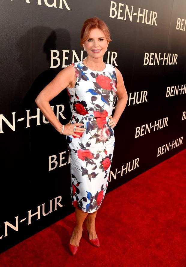 Actress and producer Roma Downey at yesterday's Hollywood premiere of Ben-Hur