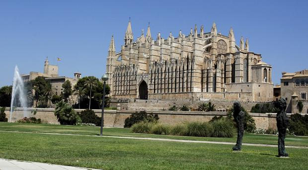The victim was taken to the hospital in Palma, Majorca.