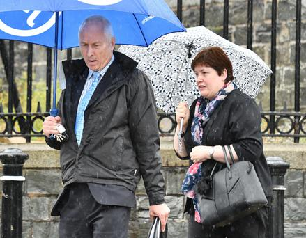 William and Roberta Young leaving Downpatrick Court yesterday