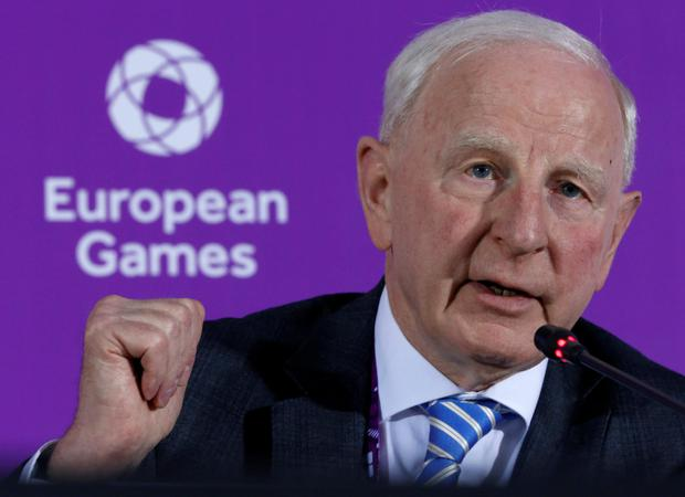 Quizzed: Patrick Hickey. Picture: AP Photo/Dmitry Lovetsky