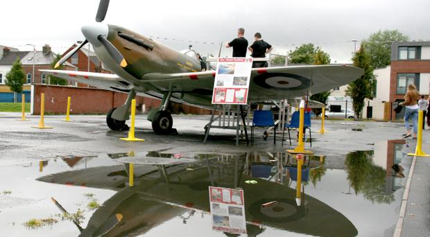 The replica Spitfire put on show at the Ballymac Centre in east Belfast