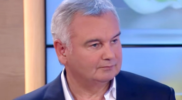 Eamonn Holmes looks angry after Beer's comment about the Great Famine