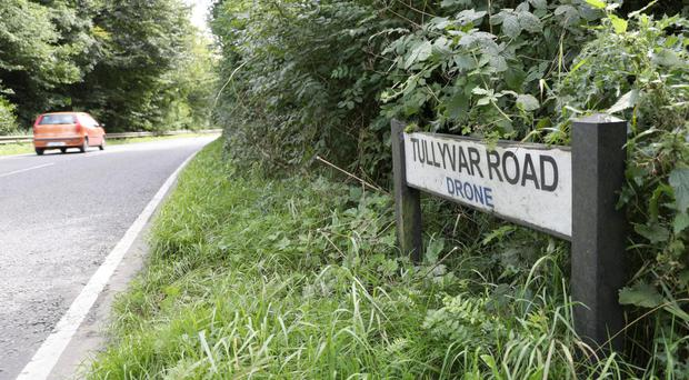 The Tullyvar Road in Aughnacloy, where a man in his 40s died in crash