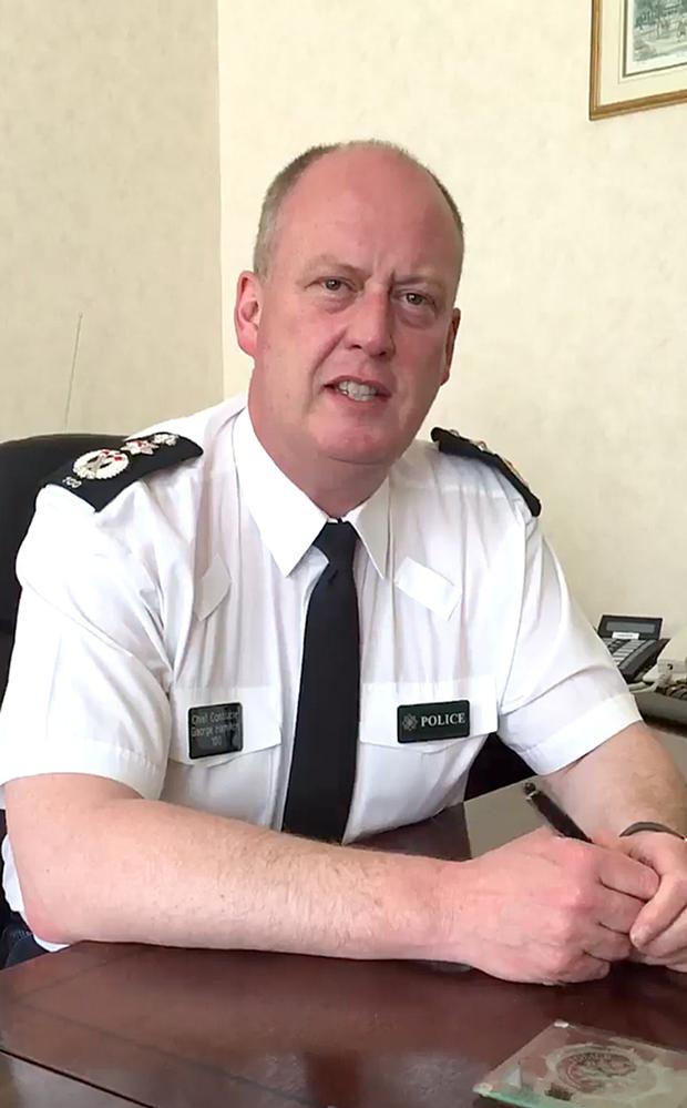 Chief Constable George Hamilton later apologised on Twitter and the internal PSNI intranet for his 'frank conversation' on the social media site