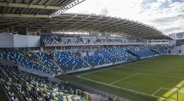 Glenavon fans had problems getting into the Windsor Park ground
