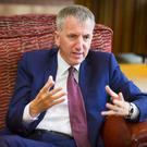 Minister Mairtin O Muilleoir speaking to the Belfast Telegraph