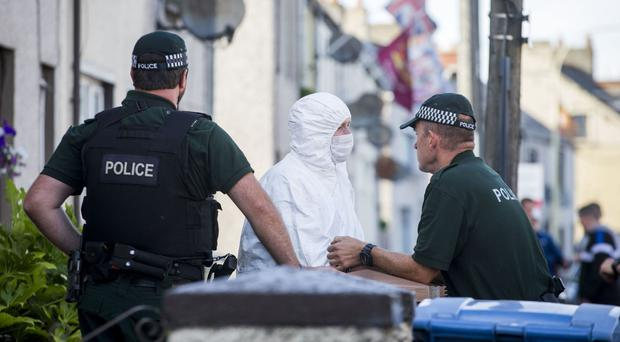 PSNI officers search properties in Larne, Co Antrim