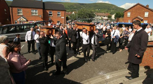 Joseph Murphy, a victim of the Troubles, and his wife Mary were buried together