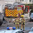 The stolen fire engine left a trail of destruction in its wake as it careered through the streets of Larne