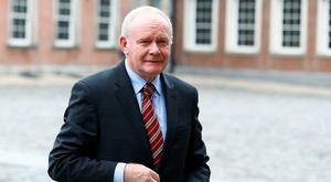 Martin McGuinness today