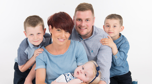 Devoted couple: Rodney Beggs and Sinead with her sons Tiernan and Johnny and their daughter Mary