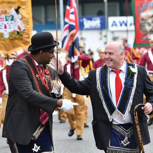 The Royal Black district chapter parades in Ballymena on Saturday