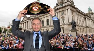 Fans welcome Carl Frampton