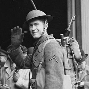 Private Milburn Henke, said to be the first to step on Ulster soil