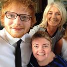 Ed Sheeran with guests Sarah O'Kane, Rose Edwards and Mona Elliot