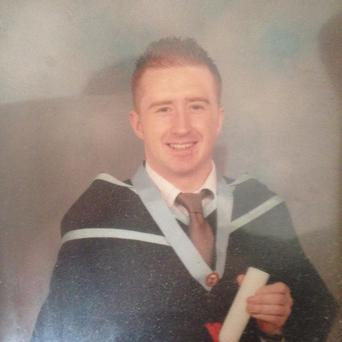 Dean McCullagh, who died following liver failure, on his graduation day