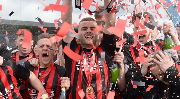Crusaders were crowned Irish League champions in May