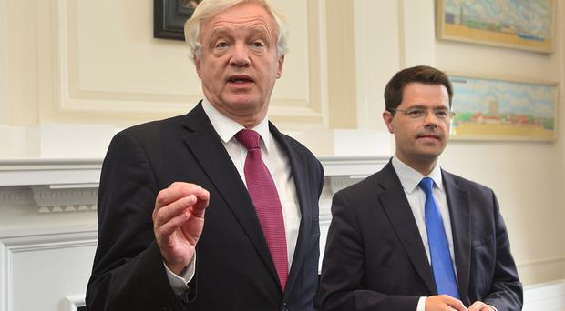 Brexit Secretary David Davis (left) with Secretary of State James Brokenshire
