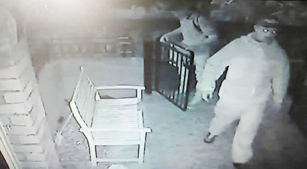 CCTV footage of burglars in north Belfast this week