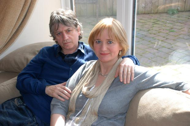 Bap Kennedy at home with his wife Brenda