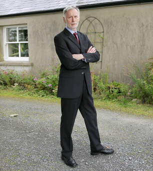 Walter Graham outside his home in Downpatrick