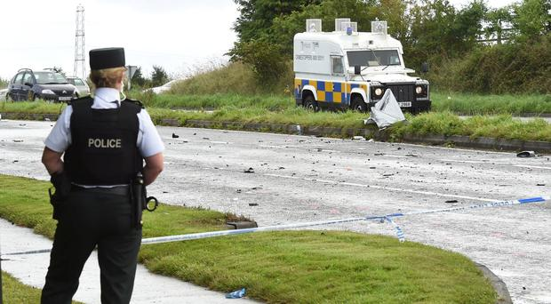 The scene on thw Clooney Road outside Londonderry where a motorist died following a two car collision on Sunday morning. Picture Inpresspics.com. 04.09.16