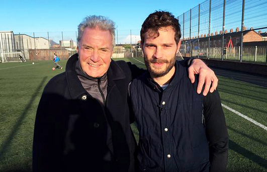 Jamie Dornan with his dad Jim