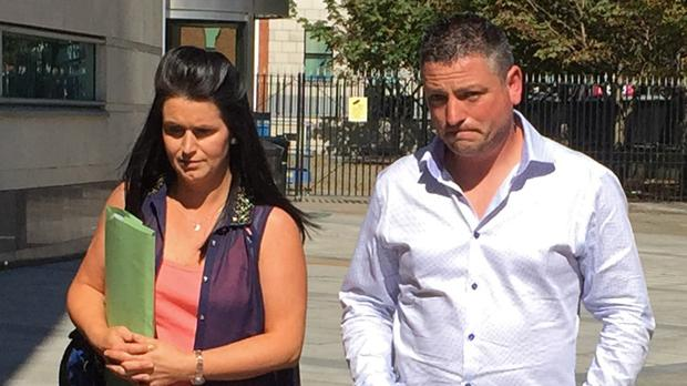 Michelle and Barry Rocks at Belfast Coroner's Court where an inquest for their stillborn daughter Cara was held