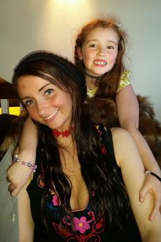 Emma McLaughlin with her daughter Hope