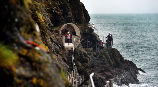 The spectacular, if so far ill-fated, Gobbins walkway in Co Antrim