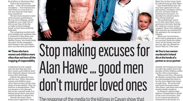 Suzanne Breen's comment piece on the Hawe family murder