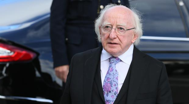 President Michael D Higgins has unveiled a Celtic cross memorial to Ireland's one million Famine dead