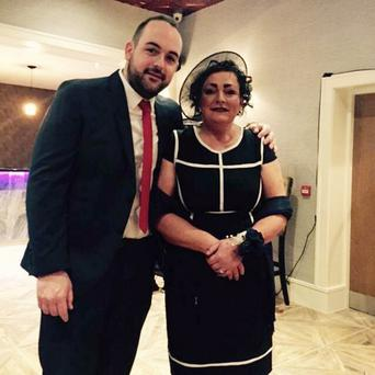 SDLP councillor Paul McCusker with his mother Anne
