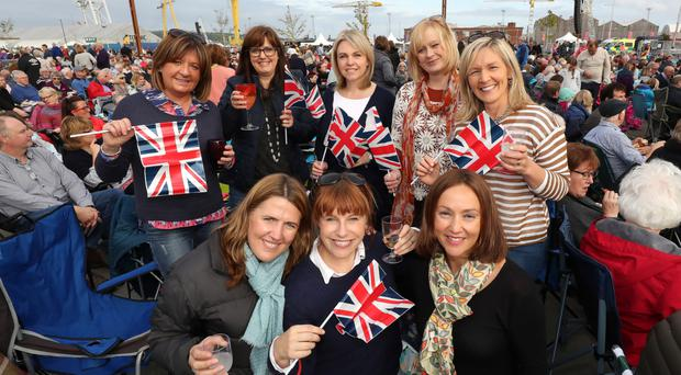 Crowds flocked to Titanic slipways on Saturday night for BBC Proms In The Park