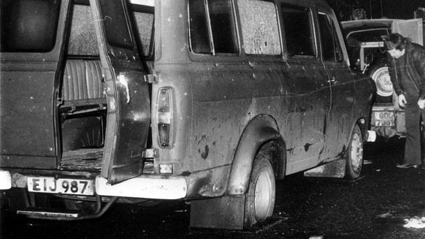 Ten Protestant workmen were gunned down when their minibus was ambushed in rural south Armagh on January 5 1976