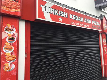 The kebab shop in Coleraine targeted by Samuel Martin