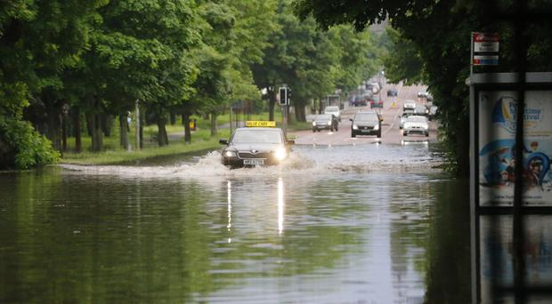 Major flash flooding, such as on the Holywood Road in Belfast earlier this year, could become more frequent