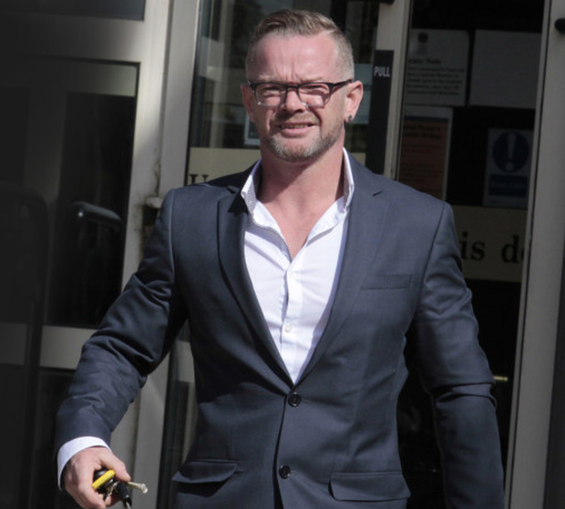 Paul McCullough leaves Antrim Magistrates Court yesterday
