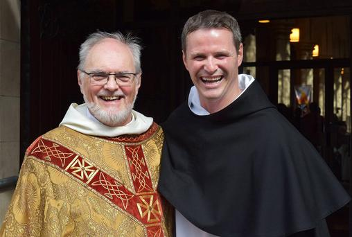 Philip Mulryne, with Fr Gregory Carroll.