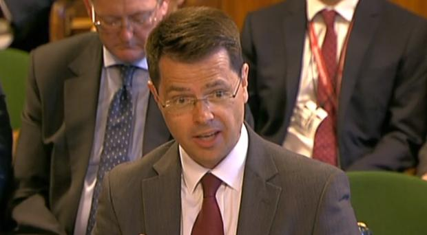 Northern Ireland Secretary James Brokenshire gives evidence to the Northern Ireland Affairs Select Committee in the House of Commons