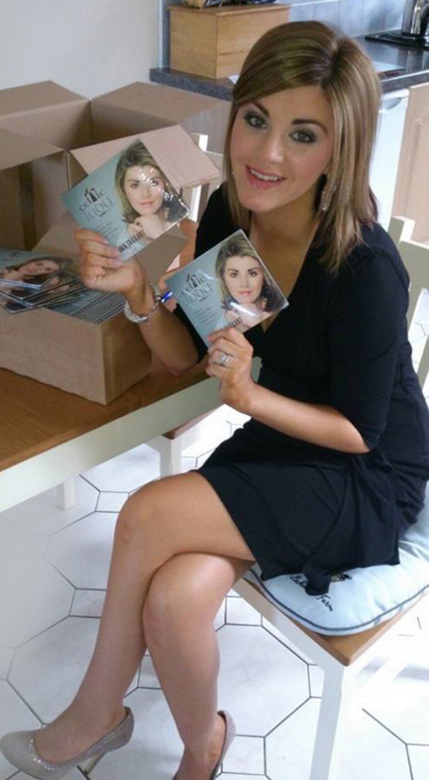 Donna Taggart, from Omagh, with her album