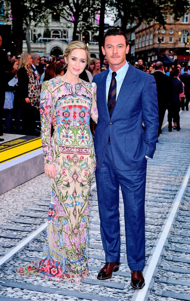 Emily Blunt and Luke Evans at the world premiere of The Girl On The Train last night