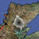 A map showing the Lairg gravity anomaly