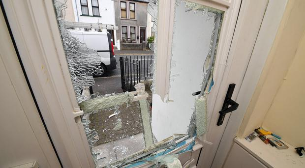 Hatchets were used on the front door of a house in Fleet Street