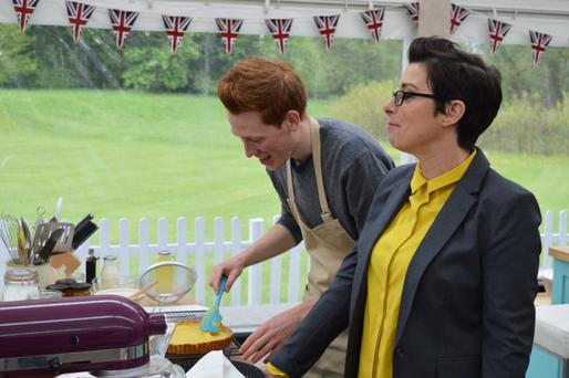 Andrew Smyth with Sue Perkins