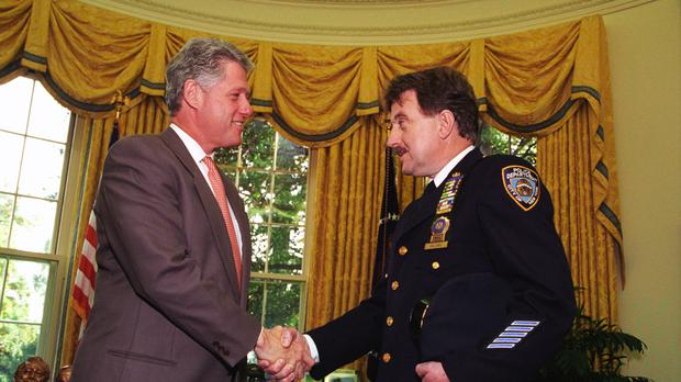 Denis Mulcahy with former president Bill Clinton (Clinton Presidential Library/PA)