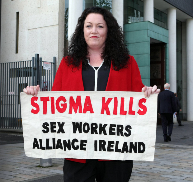 Sex workers' rights campaigner and speaker Laura Lee at Belfast High Court